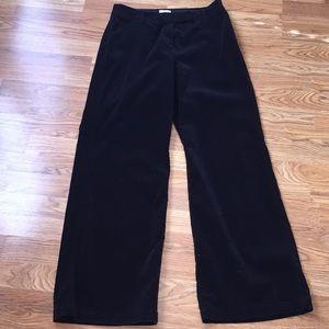 Chico's Black Velvet Wide Leg Pants Sz 1.5